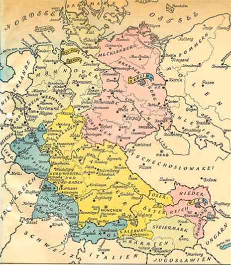 Map Of Germany Occupation Zones.Allied Plans For Germany After World War Ii